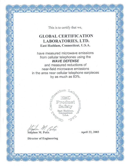 Tested and proven by Global Certification Laboratories USA.